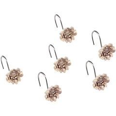 Queen Street® Bianca Damask Floral Shower Curtain Hooks