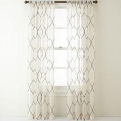 Liz Claiborne® Marina Rod-Pocket Sheer Panel