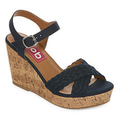 Pop Kirkland Womens Wedge Sandals