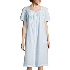 Adonna Short Sleeve Seersucker Robe