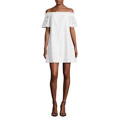 a.n.a Short Sleeve Sheath Dress-Talls