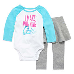 Xersion 2-pc. Bodysuit Set-Baby Girls