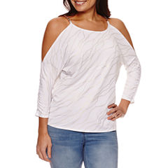 Bold Elements Chain Cold Shoulder Top