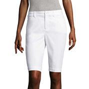 St. John's Bay® Secretly Slender Bermuda Shorts
