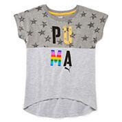 Puma® Short-Sleeve Starry Graphic Tee - Girls 7-16