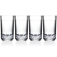 Drinique Unbreakable Elite Set of 4 Tall Glasses