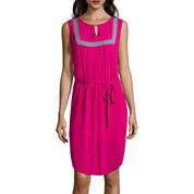 Liz Claiborne® Sleeveless Bib-Front Dress - Tall