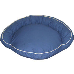 Carolina Pet Co. Classic Bolster Indoor/Outdoor Round Pet Bed