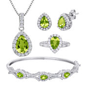 Genuine Peridot and Cubic Zirconia 4-pc. Boxed Set