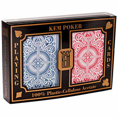 US Playing Card Company KEM Playing Cards - ArrowRed and Blue: Wide