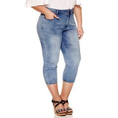 Bisou Bisou Skinny Fit Cropped Jeans-Plus
