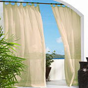 Escape Hook and Loop Tab-Top Outdoor Curtain Panel