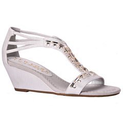New York Transit Bright Light Womens Wedge Sandals