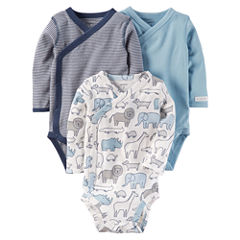 Carter's Little Baby Basics Boy 3-Pack Side Snap Bodysuits