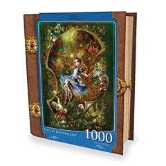 Masterpieces Puzzles Fairytales Book Box - Alice in Wonderland: 1000 Pcs