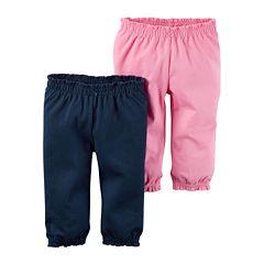 Carter's® 2-pk. Navy Pants - Baby Girls newborn-24m