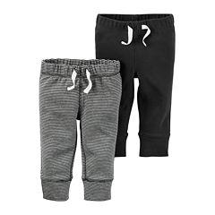 Carter's® 2-pk. Grey Stripe and Charcoal Pants - Baby Boys newborn-24m
