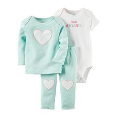Carter's® 3-pc. Blue Heart Layette Set - Baby Girls newborn-12m