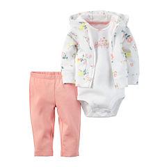 Carter's® 3-pc. Floral Layette Set - Baby Girls newborn-24m