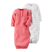 Carter's® 2-pk. Dot Gowns - Baby Girls one size fits newborn