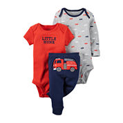 Carter's® 3-pc Fire Truck Layette Set - Baby Boys newborn-24m