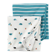 Carter's® 2-pk. Blue Gray Swaddle Blankets - Baby Boys newborn-24m