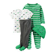 Carter's® 4-pc. Green Dino Layette Set - Baby Boys newborn-24m