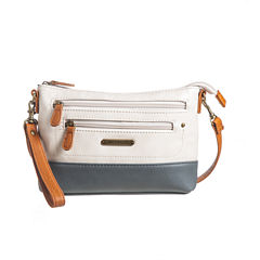 Stone Mountain Talia Vintage Leather East-West Charging Crossbody Bag