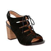 Clarks of England Banoy Waneta Womens Heeled Sandals Wide