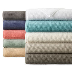JCPenney Home™ Quick Dri Textured Solid Bath Towels