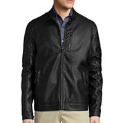 Claiborne® Faux Leather Jacket