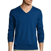 Claiborne® Long-Sleeve V-Neck Sweater