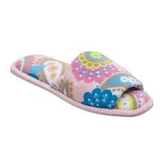 Dearfoams® Microfiber Terry Open-Toe Slippers