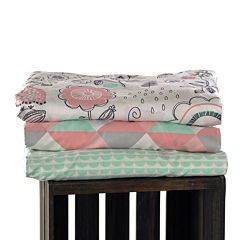 Lolli Living 2-Pack Fitted Sheet Bed Skirt - Sparrow