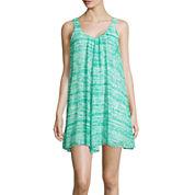 Decree® Sleeveless V-Neck Handkerchief Dress- Juniors