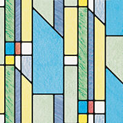 Geometrics Stained Glass Set of 2 Window Film Decals