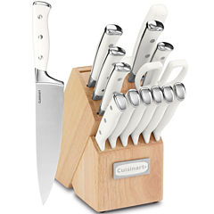 Cuisinart® Classic 15-pc. White Triple Rivet Cutlery Block Set