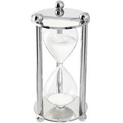 Natico Silver Polished Hourglass