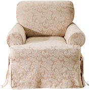 SURE FIT® Scroll 1-pc. T-Cushion Chair Slipcover
