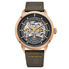 Stuhrling Mens Orange Strap Watch-Sp16489
