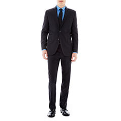 JF J. Ferrar® Black Striped Suit Separates - Slim Fit