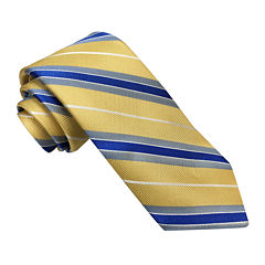 Stafford® Marco Bay Textured Stripe Silk Tie - Slim