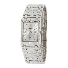 Mens Silver Tone Bracelet Watch-508871