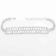 Vieste Rosa Womens Glass Beaded Choker Necklace