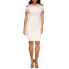 Bisou Bisou Cold Shoulder Sheath Dress