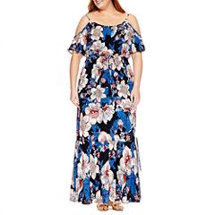 Weslee Rose Short Sleeve Maxi Dress-Plus