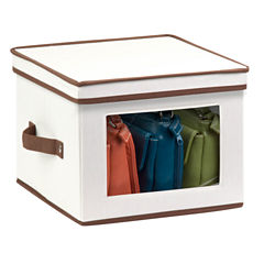 Honey-Can-Do® Natural Canvas Medium Window Storage Box