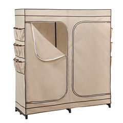 Honey-Can-Do® Double-Door Clothing Storage Closet w/ Shoe Organizer