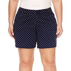 St. John's Bay® Twill Cargo Shorts-Plus (7