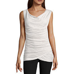 Worthington Sleeveless Cowl Neck T-Shirt